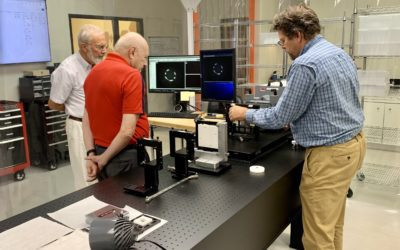 Jim Wyant, the father of CGH optical testing, visits AOM